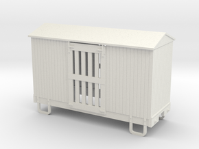 On18/On20 12ft 4w ventilated boxcar  in White Natural Versatile Plastic