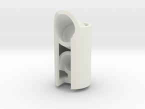 Led holder2 - 22.5 degree in White Natural Versatile Plastic