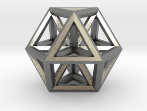 """Large Vector Equilibrium 1.5"""" in Natural Silver"""