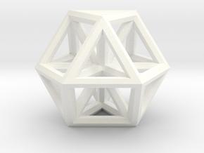 """Large Vector Equilibrium 1.5"""" in White Processed Versatile Plastic"""