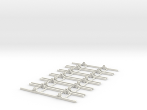 OO9 Underframe 8ft wb x6 in White Strong & Flexible