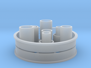 Differential Bushings Set in Smooth Fine Detail Plastic