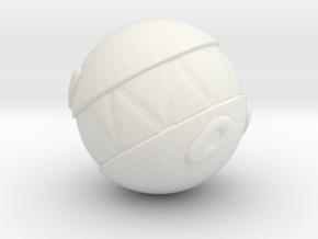 Circus Ball in White Natural Versatile Plastic