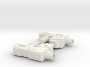 Hand Blaster in White Natural Versatile Plastic