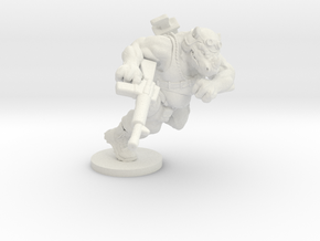 Animal Soldier in White Natural Versatile Plastic