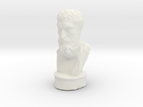 Epicurus 2 inches tall (hollow) in White Natural Versatile Plastic