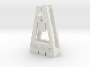 TrackToolz Z Gauge Spacing Tool in White Natural Versatile Plastic