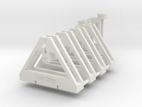 TrackToolz Set - S Gauge in White Natural Versatile Plastic