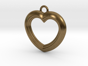 Cascading Heart Pendant in Natural Bronze