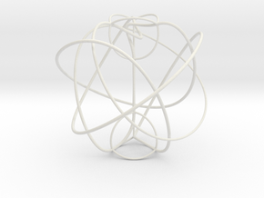 Berge's Cosmetic Tangle in White Natural Versatile Plastic