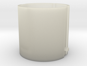 Piston64.6mmNoSupport 002 in Transparent Acrylic