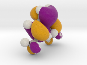 Dimethyl hexatriene,  Highest energy occupied pi-M in Full Color Sandstone
