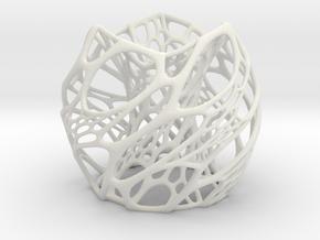Cellular Lamp Scaled in White Natural Versatile Plastic