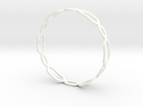 Jasmine Bangle in White Strong & Flexible Polished