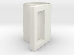 geometric mug 03 in White Natural Versatile Plastic