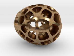 Mosaic Egg #5 in Natural Brass