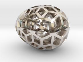 Mosaic Egg #10 in Platinum