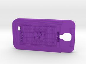 Galaxy S4 Football Huskies in Purple Strong & Flexible Polished