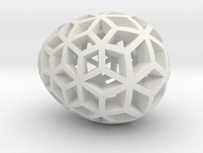 Mosaic Egg #10 in White Natural Versatile Plastic