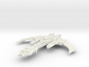 Hark'Or Class Battleship in White Natural Versatile Plastic