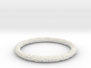 Perlin Bracelet (Large) in White Natural Versatile Plastic