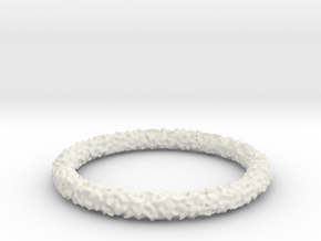 Perlin Bracelet (Medium) in White Natural Versatile Plastic