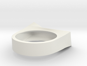 Cutting Edge Ring - 18 mm in White Natural Versatile Plastic