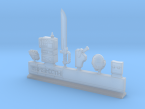 Power Sword Equipment in Smooth Fine Detail Plastic