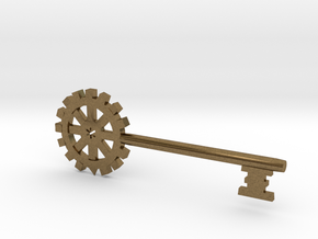 Gear Key in Natural Bronze