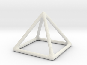 Pyramid  in White Natural Versatile Plastic