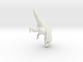 evolutionFish_5 in White Natural Versatile Plastic