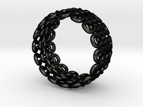 Knitter's Ring (59mm) in Matte Black Steel