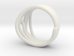 HeliX Kink Ring - 18 mm in White Natural Versatile Plastic