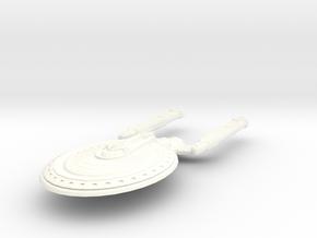 Kansas Class Cruiser in White Strong & Flexible Polished