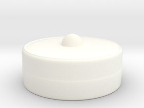 Pillbox-Hat (Test) in White Strong & Flexible Polished