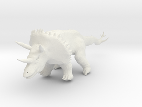 Triceratops in White Strong & Flexible