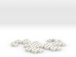 DragonCurve in White Natural Versatile Plastic