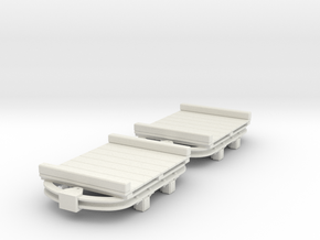 On16.5 flat wagon 2 pack in White Strong & Flexible
