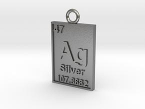 Silver Periodic Table Pendant in Natural Silver