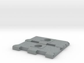 Widerlager Lüftergitter, offen in Polished Metallic Plastic