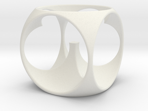 CW-003-EggCup in White Natural Versatile Plastic
