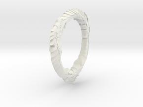 """Triple Ourouboros Dragon - 1"""" in White Strong & Flexible"""
