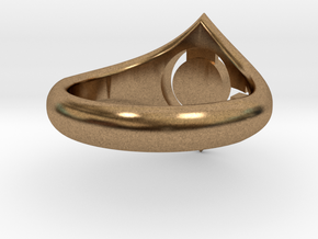 Man Symbol Ring in Natural Brass