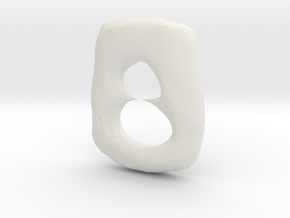 Oval With Points in White Natural Versatile Plastic
