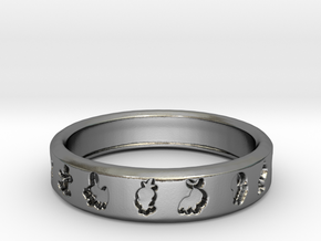Pokemon Ring in Polished Silver