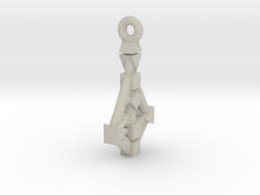 Human-Design 9-Chakra Pendant in Natural Sandstone