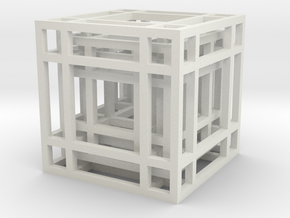 Concentric Cubes in White Natural Versatile Plastic
