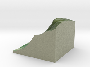 Terrafab generated model Fri Sep 27 2013 11:30:00  in Full Color Sandstone