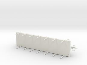 G-scale Flatcar in White Natural Versatile Plastic