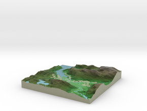 Terrafab generated model Fri Sep 27 2013 11:19:53  in Full Color Sandstone